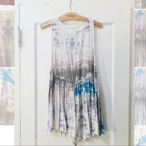 Watercolor tie dye rompers